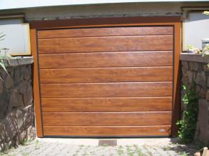 garážová vrata zlatý dub