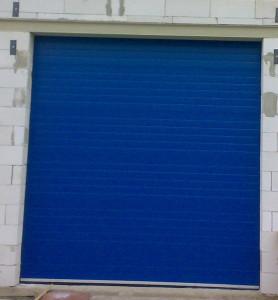 průmyslová vrata, modrá